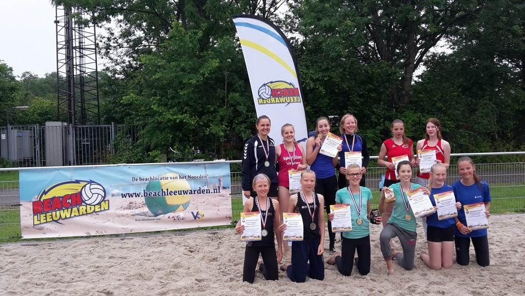 Winnaars Junior BeachLeeuwarden 14 en 18